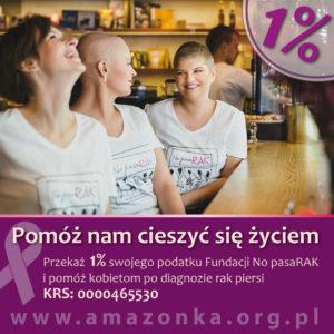 Przekaż 1% na działalność Fundacji No pasaRAK